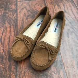 MINNETONKA Brown Suede Loafers